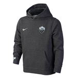 2015-2016 AS Roma Nike Core Hooded Top (Black) - Kids