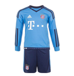 2015-2016 Bayern Munich Adidas Home Goalkeeper Little Boys Mini Kit