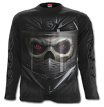 Demon Biker - Longsleeve T-Shirt Black