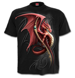 Wyvern - Front Print T-Shirt Black