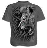 Tribal Lion - T-Shirt Charcoal