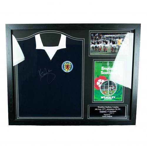 Scotland F.A. Dalglish Signed Shirt (Framed)
