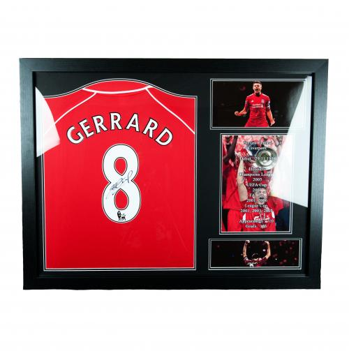 Liverpool F.C. Gerrard Signed Shirt Honours (Framed)