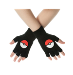 Pokemon Gloves (Fingerless) Poke Ball