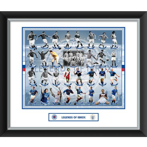 Rangers F.C. Legends Of Ibrox Double Mounted Print
