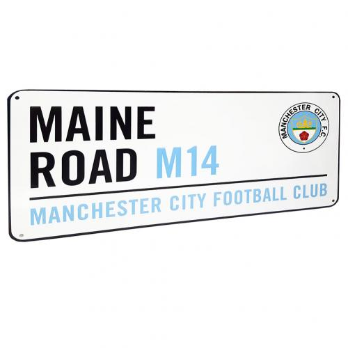 Manchester City F.C. Street Sign Maine Road