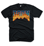 DOOM Men's Classic Game Logo T-Shirt, Large, Black