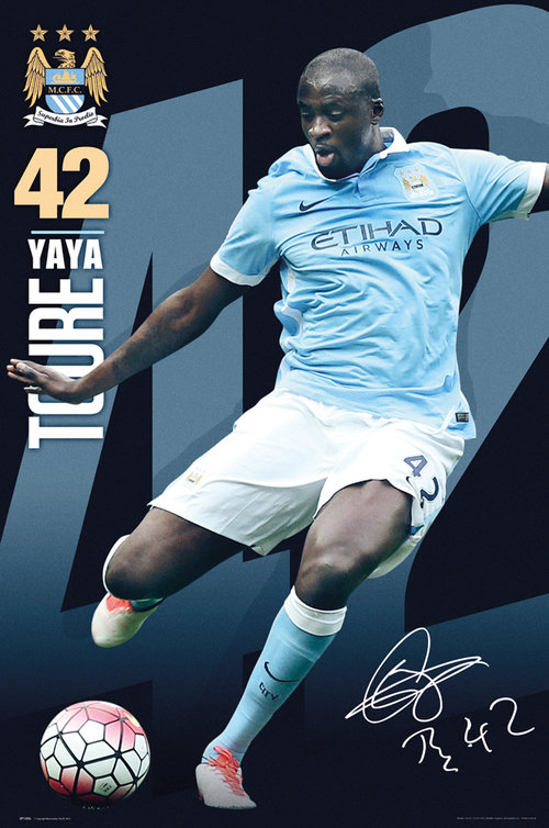 Manchester City Toure 15/16 Maxi Poster