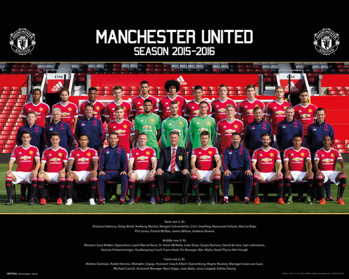 Manchester United Team Photo 15/16 Mini Poster