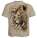 Tribal Lion - T-Shirt Stone