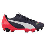 Puma evoPOWER 4.2 Firm Ground Football Boots (Peacot-White) - Kids