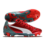 Puma evoPOWER 4.2 FG Graphic Football Boots (Red) - Kids