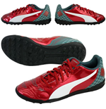 Puma evoPOWER 4.2 Astroturf Graphic Football Boots (Red) - Kids