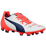 Puma Evopower 2.2 FG Football Boots (White-Orange)