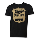 MILLER HIGH LIFE Men's Black Best Beer T-Shirt