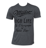 MILLER High Life Men's Charcoal Cursive Logo T-Shirt