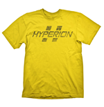 BORDERLANDS Hyperion Logo Men's T-Shirt, Extra Large, Yellow (GE1706XL)