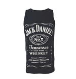 JACK DANIEL'S Adult Male Old No.7 Brand Logo Tank Top, Large, Black/White