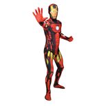 MARVEL COMICS Iron Man Adult Unisex Cosplay Costume Morphsuit, Extra Extra Large, Multi-Colour