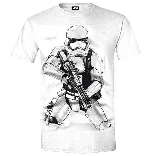 STAR WARS VII Men's The Force Awakens Stormtrooper Sketch T-Shirt, Extra Extra Large, White