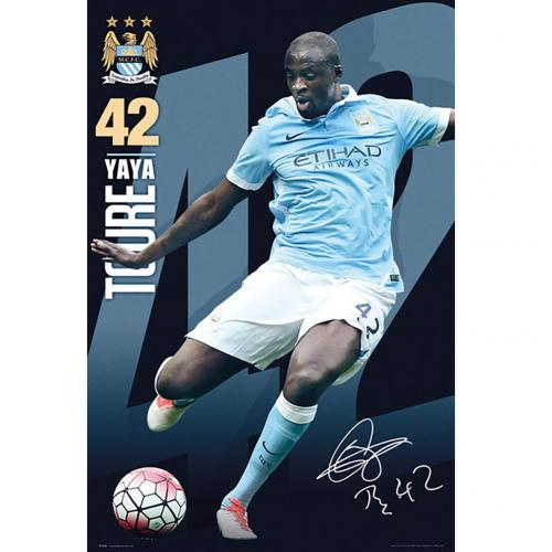 Manchester City F.C. Poster Toure 100
