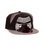 STAR WARS VII The Force Awakens Kylo Ren Mask Snapback Baseball Cap, Black/Grey