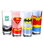 Justice League Set of 4 Galsses