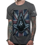 Assassin's Creed Syndicate T-Shirt Flag Charcoal