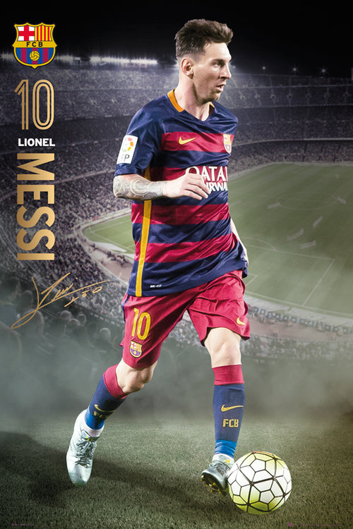 Barcelona Messi action 15/16 Maxi Poster