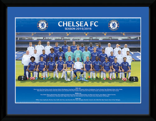 Chelsea Team photo 15/16 Framed Collector Print