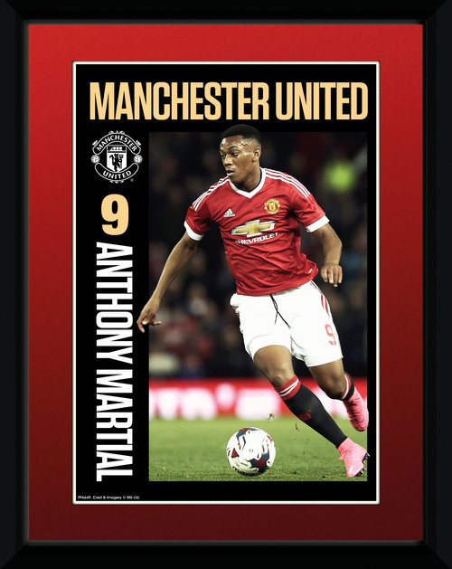 Manchester United Martial 15/16 Framed Collector Print