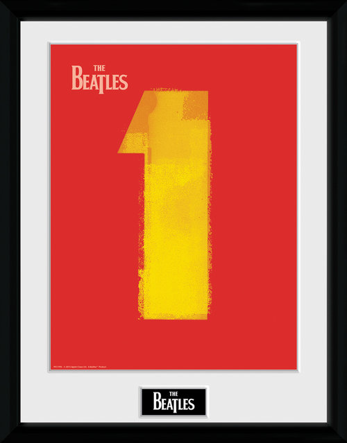 The Beatles No 1 Red Framed Collector Print