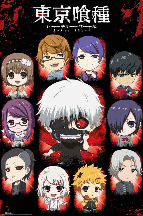 Tokyo Ghoul Chibi Characters Maxi Poster