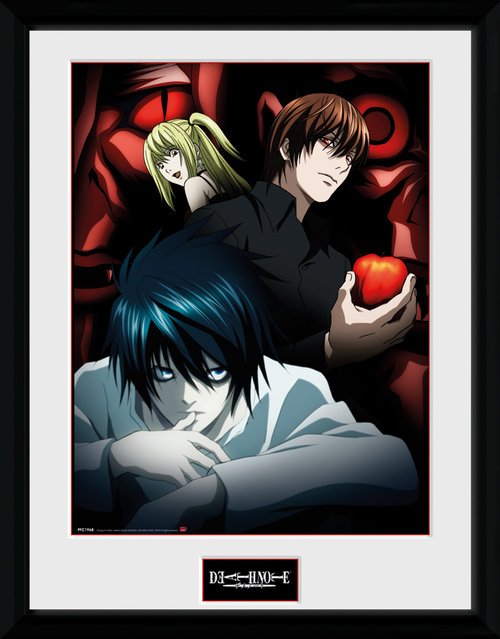 Death Note Light, L and Misa Framed Collector Print