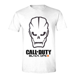 CALL OF DUTY Black Ops III Men's Skull Logo T-Shirt, Small, White