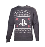 SONY Playstation Men's Logo Christmas Jumper, Large, Grey