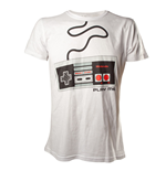 NINTENDO Original Adult Male Classic 'Play Me' NES Controller T-Shirt, Medium, White