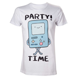 ADVENTURE TIME Adult Male Beemo Party Time! T-Shirt, Large, White