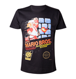 NINTENDO Super Mario Bros. Adult Male Classic NES Games Case T-Shirt, Medium, Black