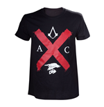 ASSASSIN'S CREED Syndicate Adult Male Rooks Red Cross Edition T-Shirt, Large, Black