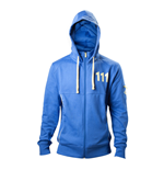 FALLOUT 4 Men's Vault 111 Billed Full Length Zipper Hoodie, Extra Extra Large, Blue