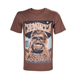 STAR WARS Adult Male Vintage Chewbacca 'Back to Kashyyyk' Rock Poster T-Shirt, Small, Brown