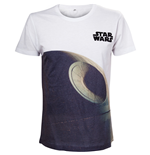 STAR WARS Adult Male Death Star T-Shirt, Small, White