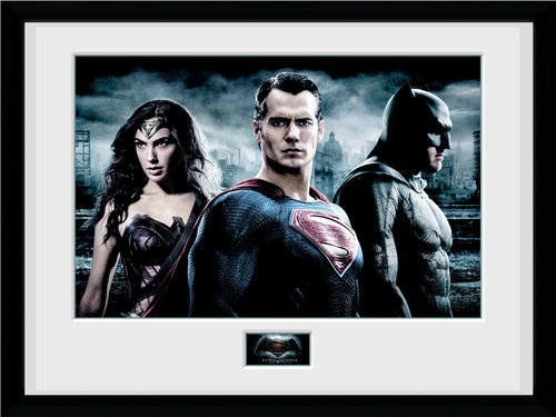 Batman Vs Superman City Framed Collector Print