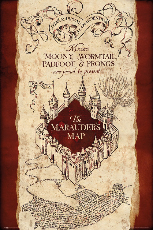 Harry Potter Marauders map Maxi Poster