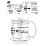 Star Wars Mug - X Wing Fighter Sketch