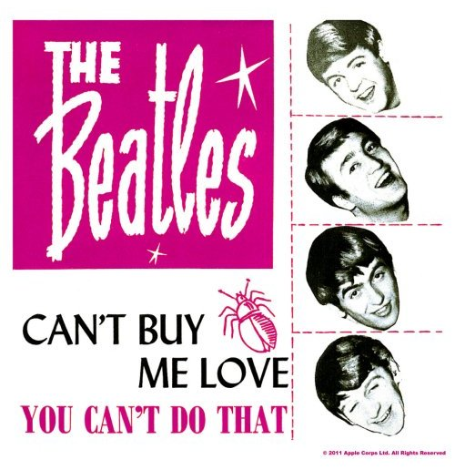 Beatles Coaster - Can't Buy Me Love/You Can't Do That