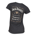 JACK DANIELS Women's Black Tennessee Honey Tee Shirt