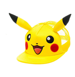 POKEMON Unisex Pikachu Face with Ears Trucker Snapback Baseball Cap, One Size, Yellow