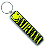 Nirvana Metal Keychain - Smiley Logo